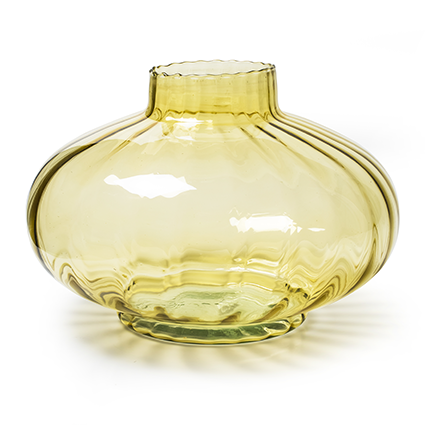 Eco bowl 'eva' optic soft yellow h20 d33