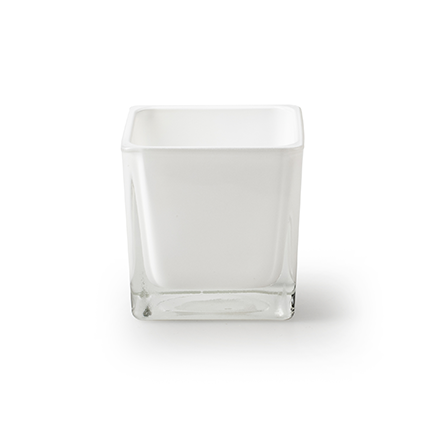 Cube 'piazza' white 6x6x6 cm