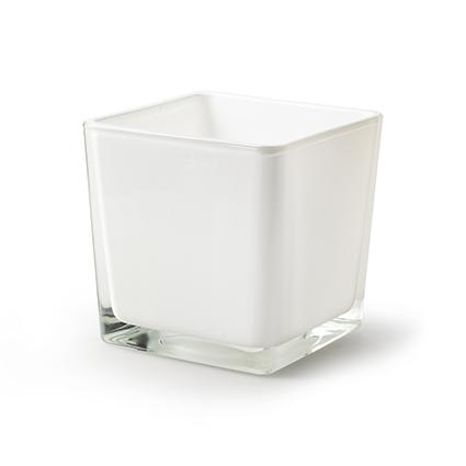 Cube 'piazza' white 10x10x10 cm