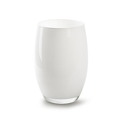 Vase 'galileo' white h20 d14 cm
