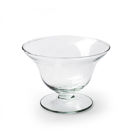 Eco bowl on foot 'loret' h11 d16 cm