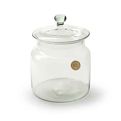 Eco 'jar' with cover h15 d15 cm