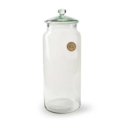 Eco 'jar' with cover h35 d15 cm