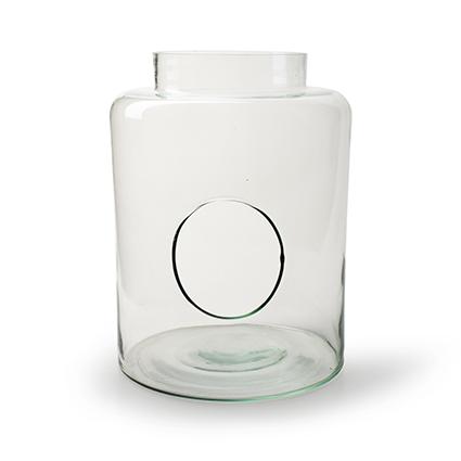 Vase with hole 'hadid' h26 d19 cm cc