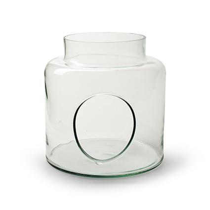 Vase with hole 'hadid' h18,5 d19 cm cc