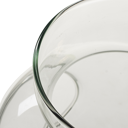 Vase with hole 'bonzia' h24 d16 cm