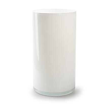 Cylinder 'arthur' white h30 d16 cm