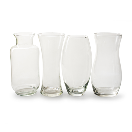 Display vases 4 ass. h26 d12 cm 48 pcs.