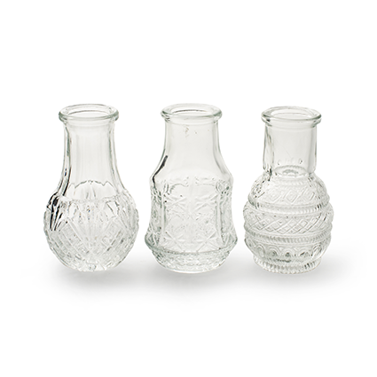 Bottle vase 'petite' XS 3-ass. h8 d5 cm