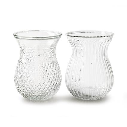 Vase 'roxy' 2-ass. h19 d14 cm