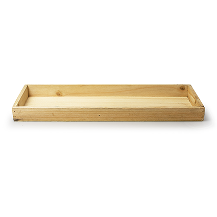 Wooden tray 'sagano' natural 39x14x3