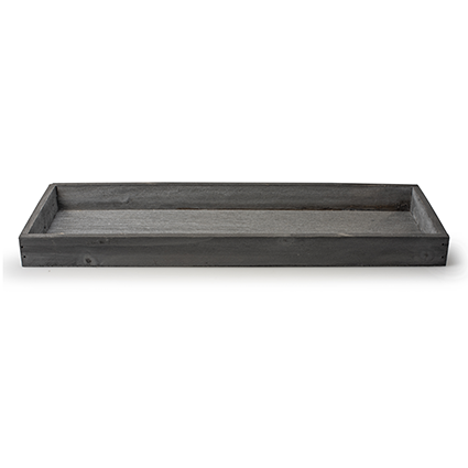 Wooden tray 'sagano' grey 39x14x3 cm
