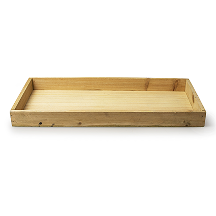 Wooden tray 'sagano' natural 35x18x3