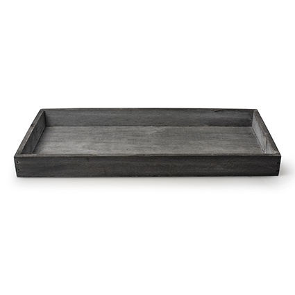 Wooden tray 'sagano' grey 35x18x3 cm