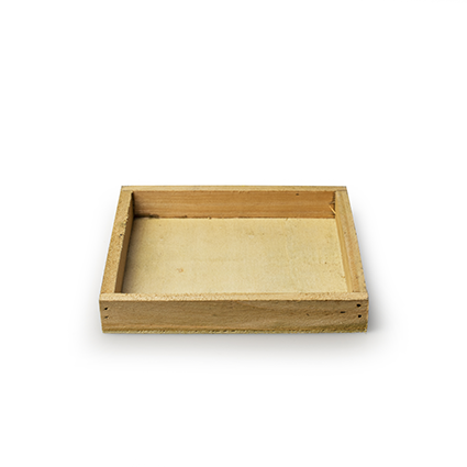 Wooden tray 'inyo' natural 14x14x2 cm