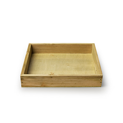 Wooden tray 'inyo' natural 18x18x3 cm