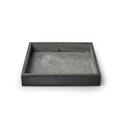 Wooden tray 'inyo' grey 18x18x3 cm
