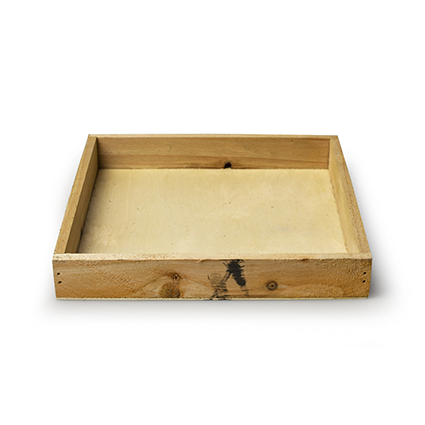 Wooden tray 'inyo' natural 20x20x3 cm