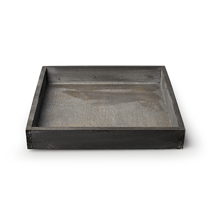 Wooden tray 'inyo' grey 20x20x3 cm