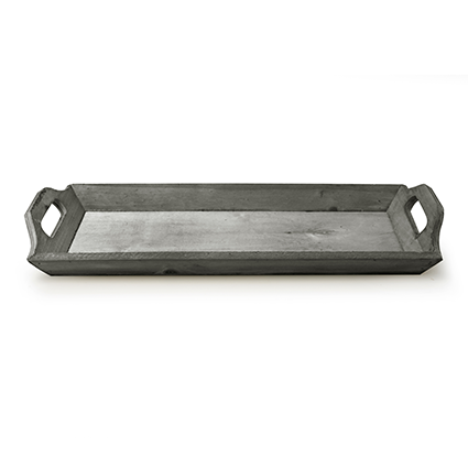 Wooden tray 'monteverde' grey 46x16x3