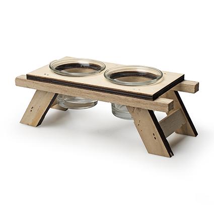Houten TLH 'picknick' h6,5/7,5 d18,5x8 cm