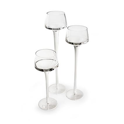 Glas op voet 'mary' h20 d7,5 cm