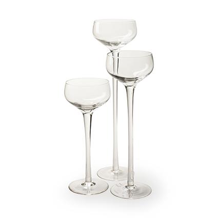 Glas op voet 'romy' h20 d8 cm