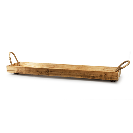 Wooden tray with rope 'guetta' h6 d97x20