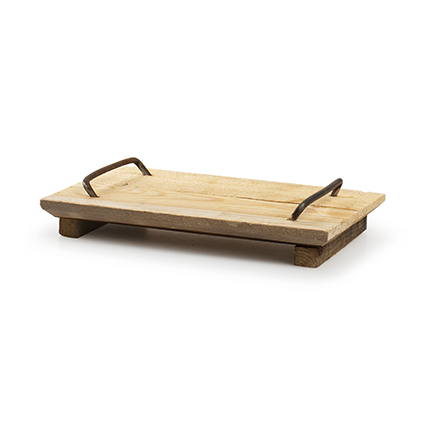 Tray with handle 'mila' h6,5 d30x19 cm