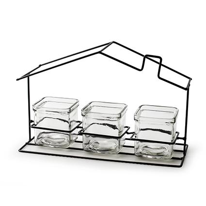 Metal frame 'house' h20 d30,5x12 cm