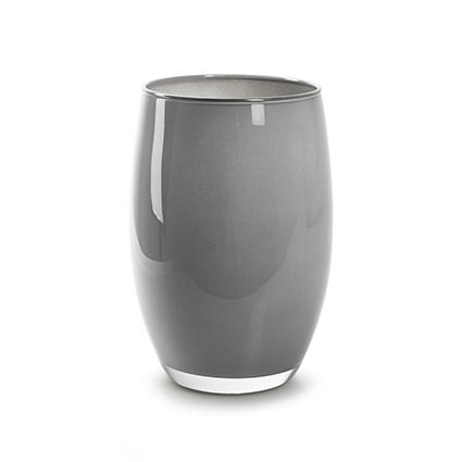 Vaas 'galileo' kiezel grijs cover h20 d14 cm