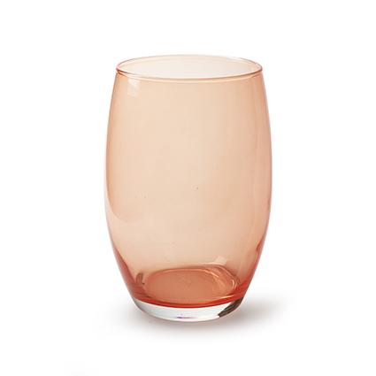Vase 'galileo' coral red h20 d14 cm