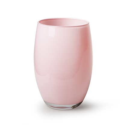Vaas 'galileo' zacht roze cover h20 d14 cm