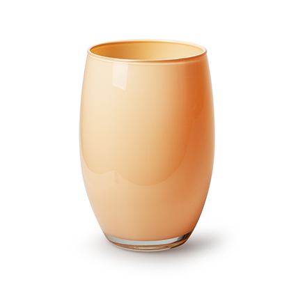 Vase 'galileo' peach cover h20 d14 cm