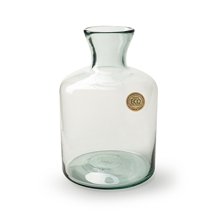 Eco bottle vase 'zeva' h30 d18/9 cm