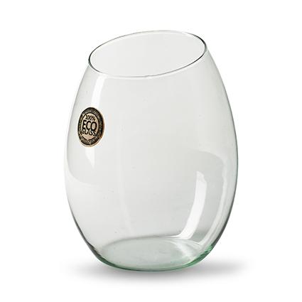 Eco vase 'slanted' h20 d14 cm