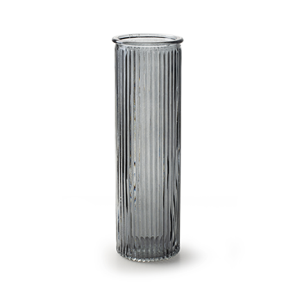 Vase 'robanne' smoke h20 d6,5 cm