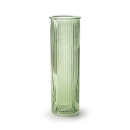Vaas 'robanne' lente groen h20 d6,5 cm