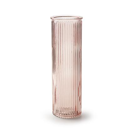 Vaas 'robanne' zacht roze h20 d6,5 cm