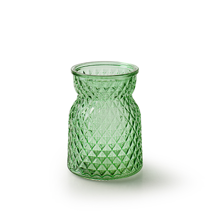 Bottle vase 'posh' spring green h10,5 d7,