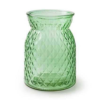 Flesvaas 'posh' lente groen h16 d12 cm