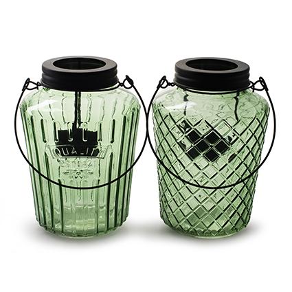Lantern 'trinity' spring green 2-ass. h16
