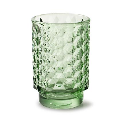 Vaas 'taisie' lente groen h13 d8,5 cm