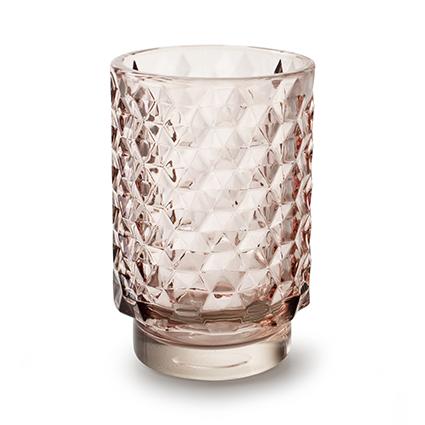 Vase 'taisie' soft pink h13 d8,5 cm