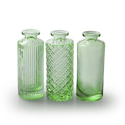 Flesvaas 'alanis' lente groen 3-ass. h13,5 d5,5 cm