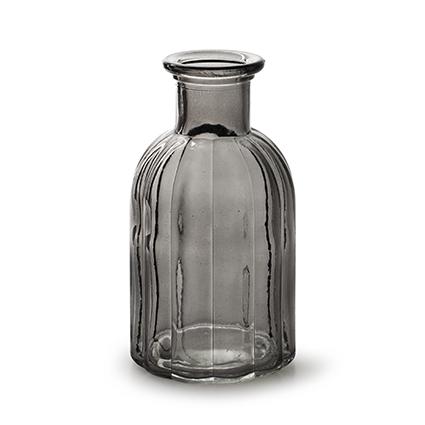 Bottle 'norinne' smoke h14d7,5 cm