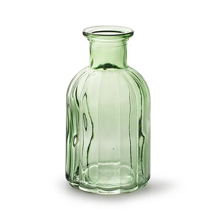 Fles 'norinne' lente groen h14 d7,5cm