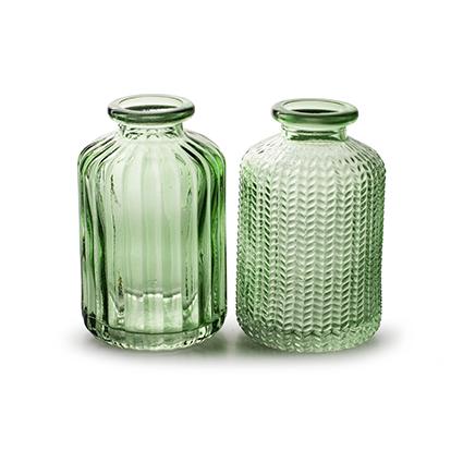 Bottlevase 'jazz' spring green 2-ass. h10