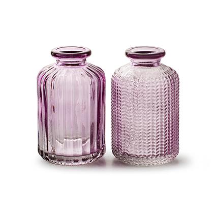 Bottlevase 'jazz' soft pink 2-ass. h10 d6