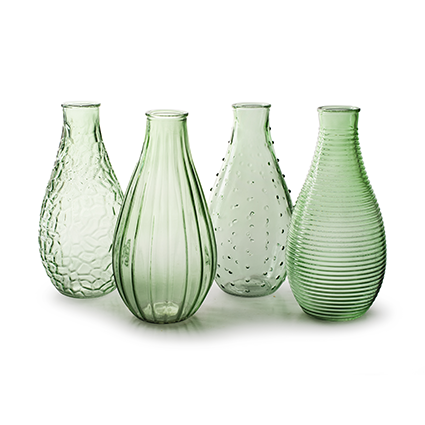 Vase 'decor' spring green XL 4-ass. h24
